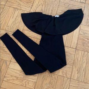 Rare London Black Strapless Jumpsuit